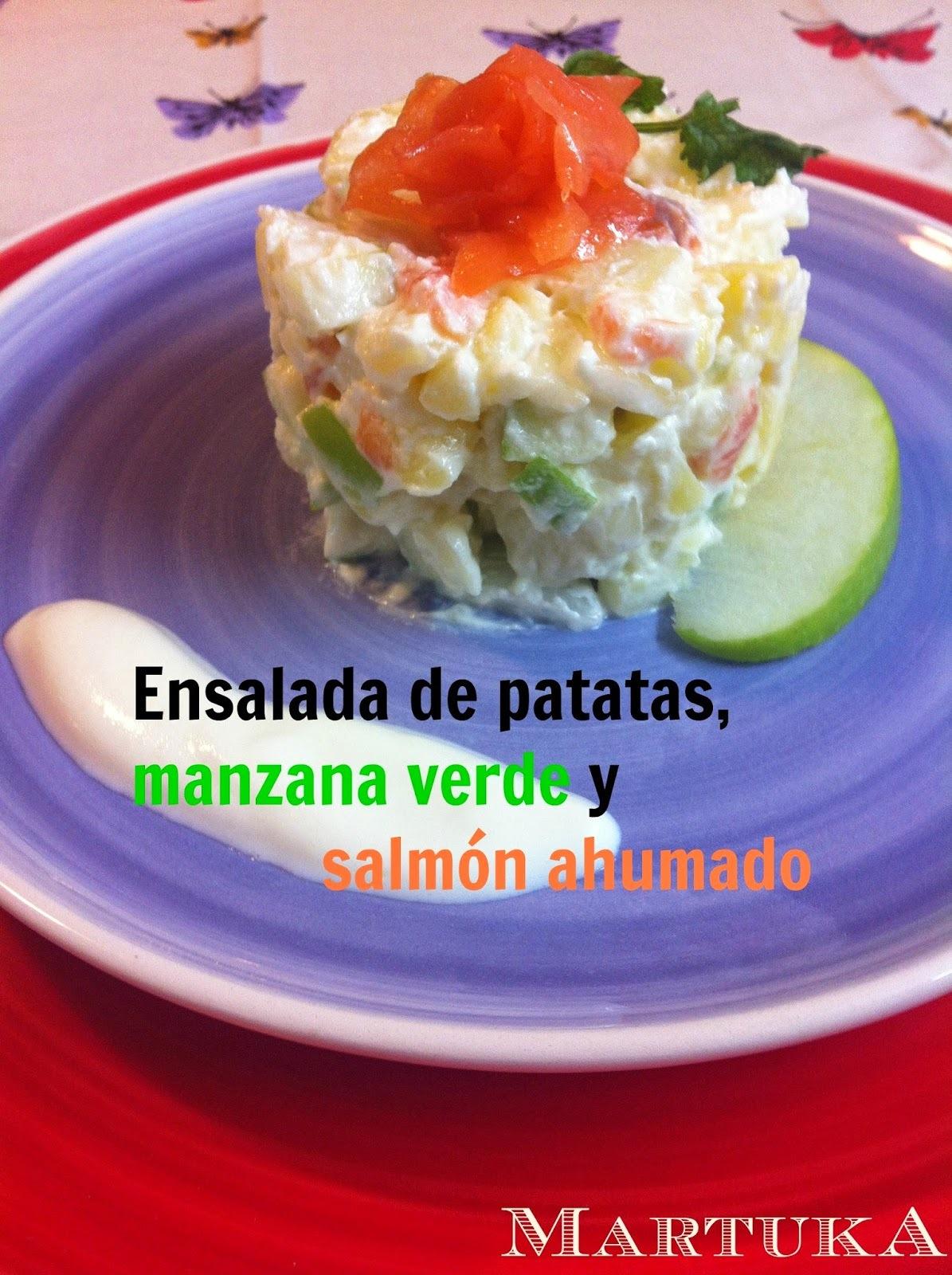 Ensalada De Patatas Con Manzana Verde Y Salmón