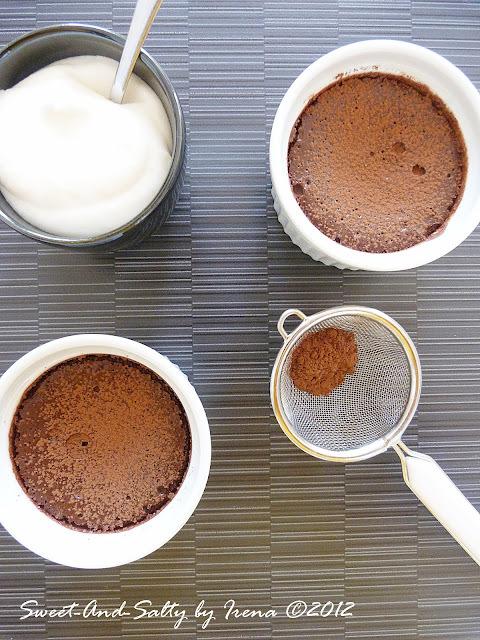 Pečena čokoladna krema sa malinama / Baked Chocolate Cream With Raspberries