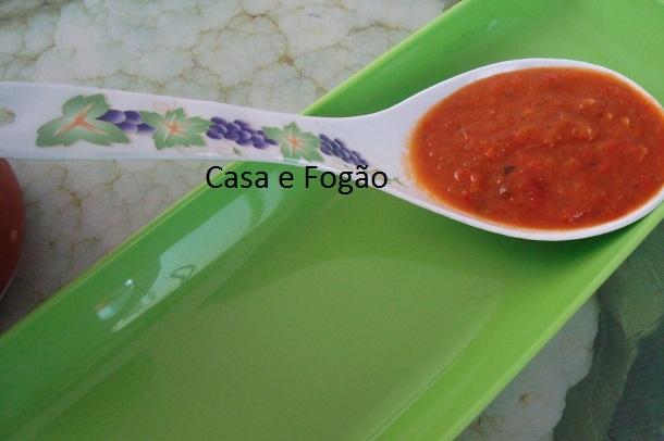 Molho de pimenta delicioso