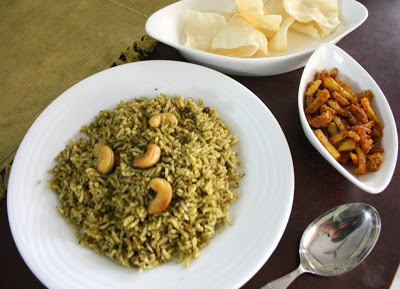 how to make pudina rice without grairlic and onion