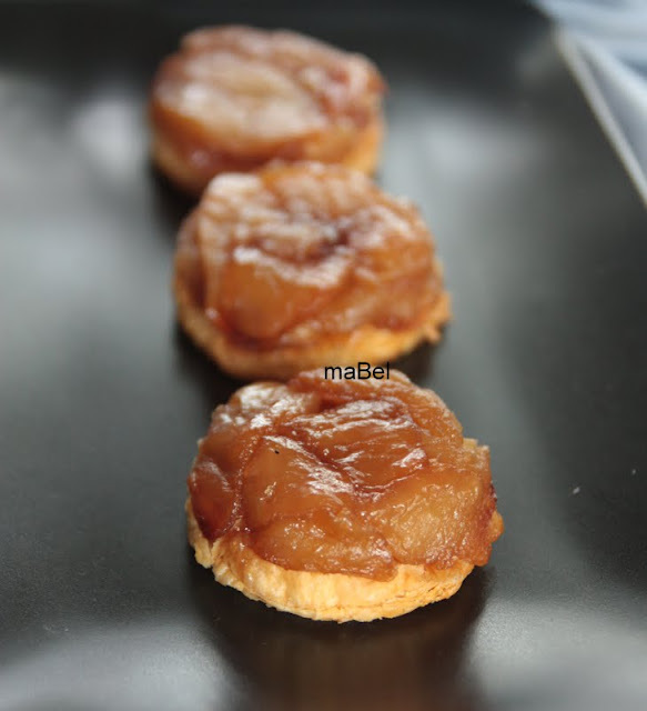 Tarta tatin mini - tarta de manzanas