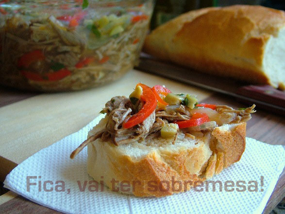 salada de carne de lagarto