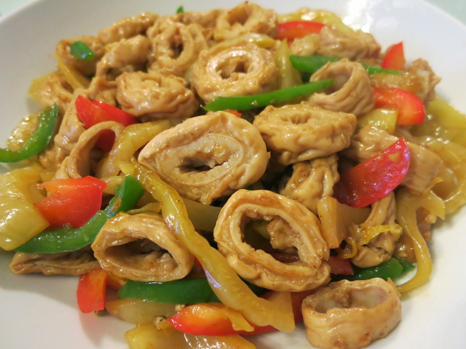 咸菜炒豬腸