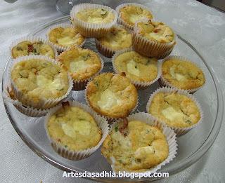 Cupcake salgado de abobrinha,com farinha integral Vitao