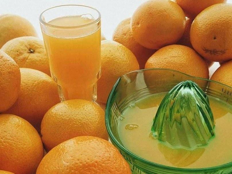 Receitas medicinais com suco laranja