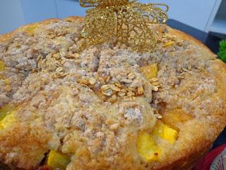 cuca de maçã com farinha integral