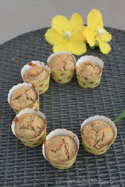 I baked: Low-sugar wholemeal banana orange loaf / muffins
