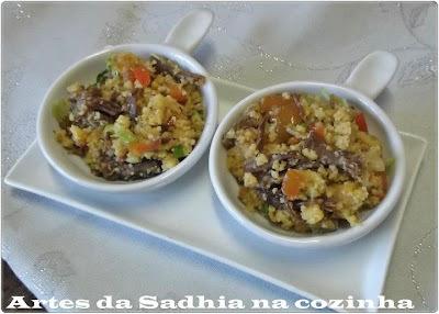 bolo de cuscuz de arroz