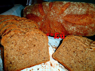 de pao integral caseiro com linhaça farelo de trigo gergelim
