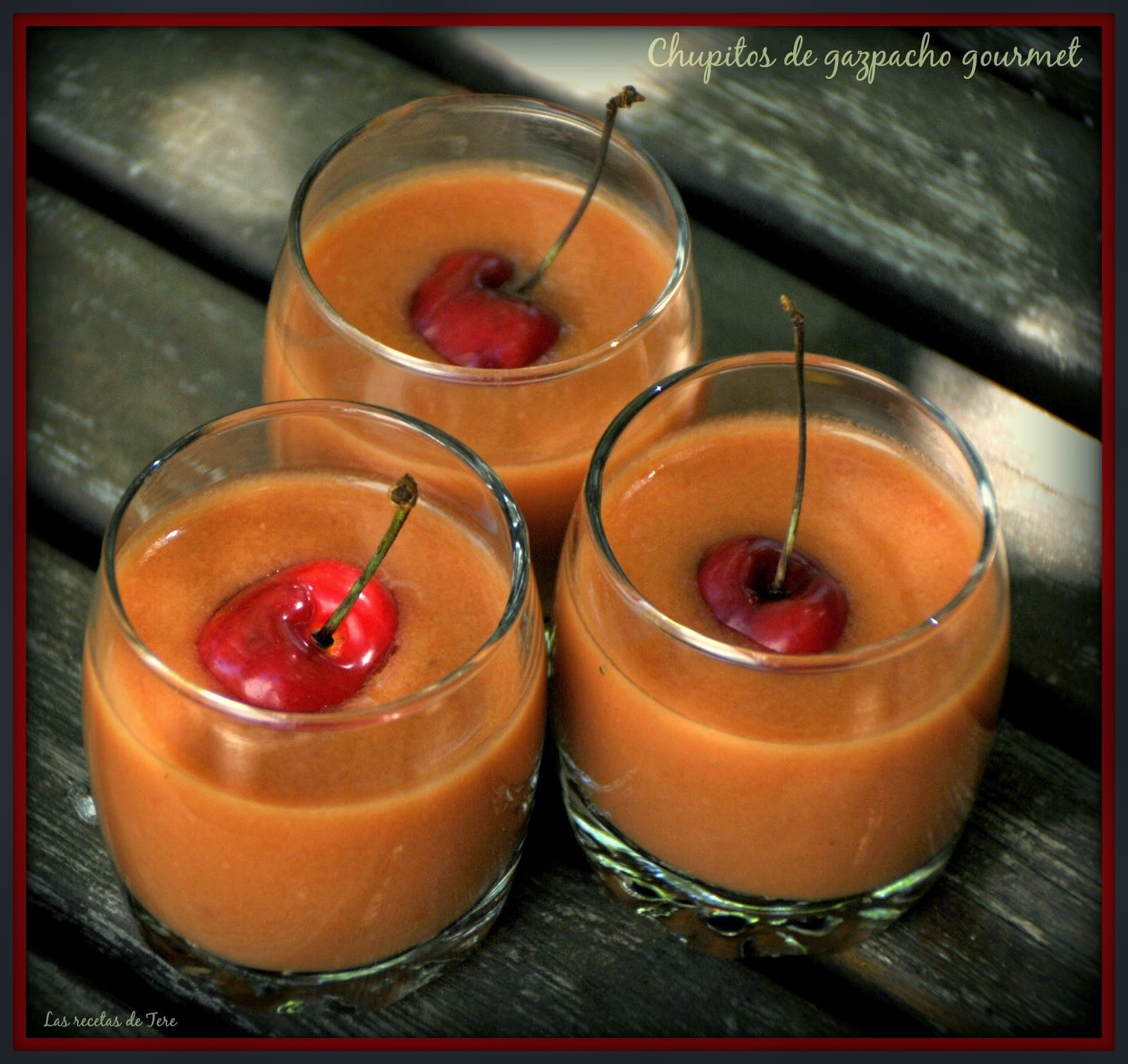 Chupitos de gazpacho gourmet.