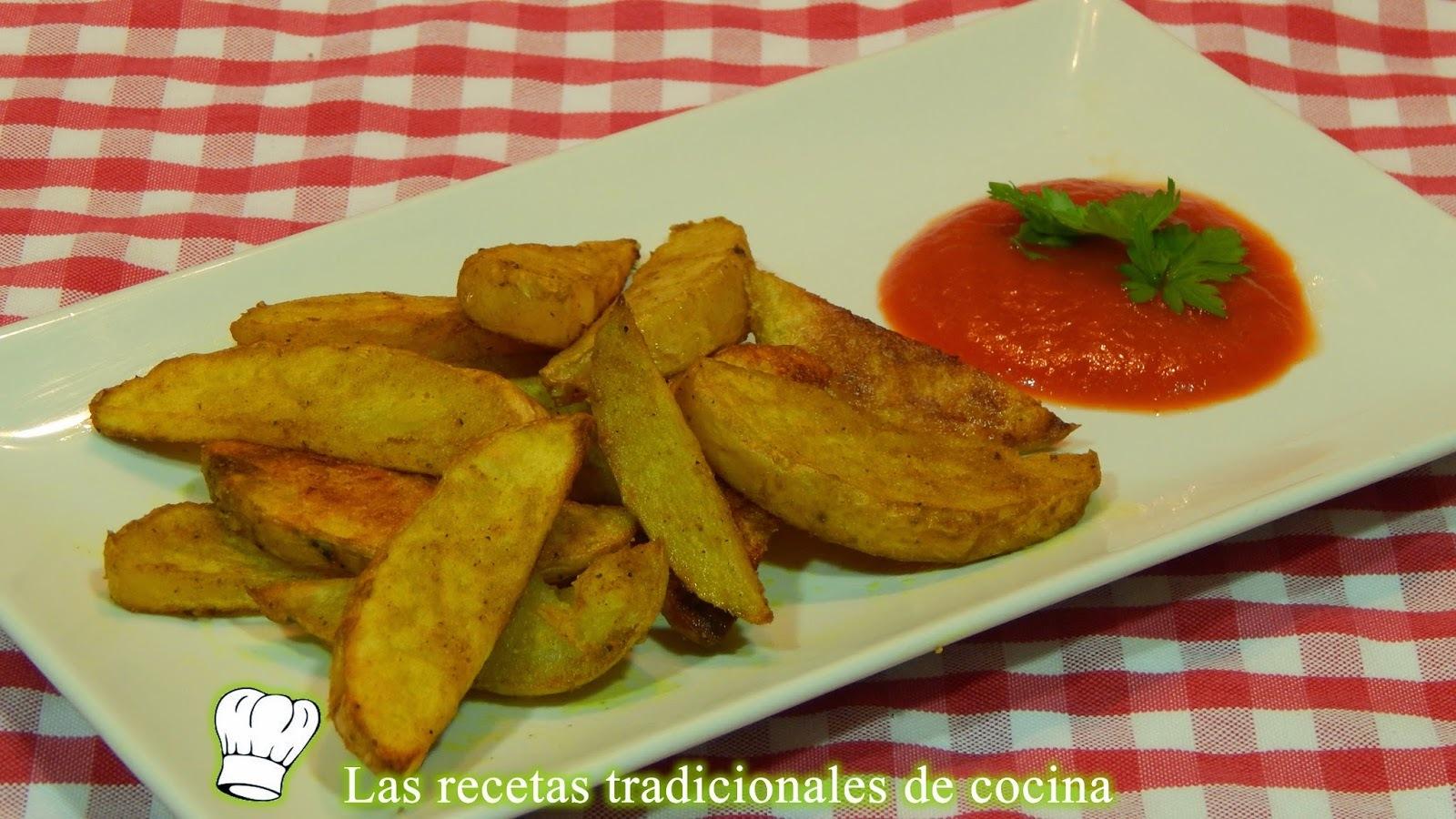 Receta de patatas adobadas con curry al horno