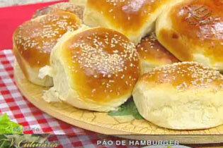 Pão de hamburguer da Palmirinha Onofre. TV CULINÁRIA