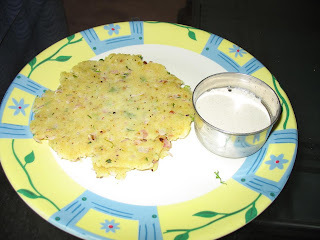 Akki Roti-with leftover lemon rice