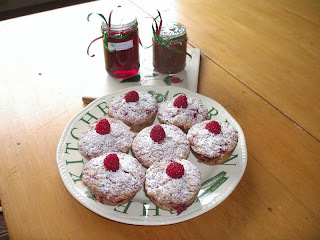 New Year's treat - Raspberry Muffins