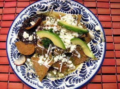Chilaquiles con salsa verde