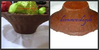 molde de cesta de ovo de pascoa