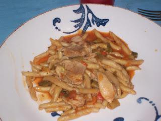 Cazuela de pasta y pollo