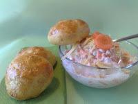 Salata od mrkve i jabuke, mrkvasta peciva i ......još nešto :)