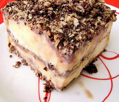 torta de bis e sorvete de flocos
