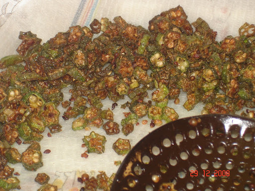 Okra/Lady Finger/Bhindi Fry: A great accompanyment to any meal
