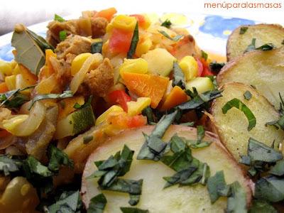 Menú del día: Tomaticán con papas doradas