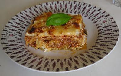 Lasagne s baklažánom a omáčkou Bolognese