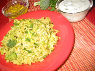 Broccoli Rice (Broccoli Bhath)