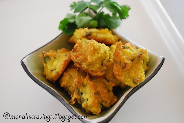 Baked Mung (mugachi / Yellow Split lentil dumplings) Bhaji