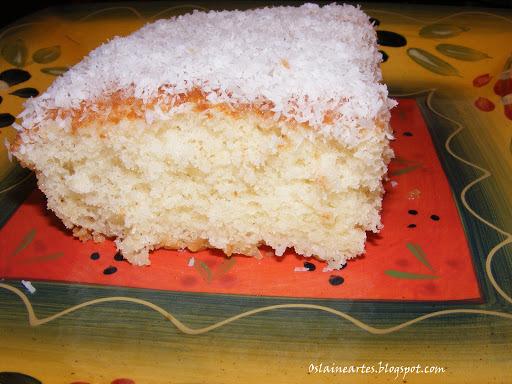bolo gelado de limão simples