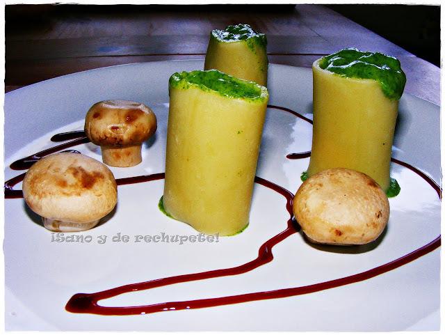 Y hoy...¡pasta!: Paccheri rellenos de espinacas