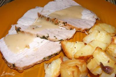 Receta para el hemc#38: Pata de cerdo y papas asadas (sistema bolsa)