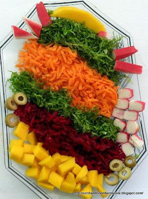 tipos de saladas cruas e cozidas