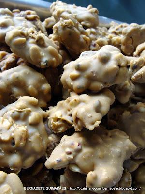 pé de moleque amendoim moido sem leite condensado