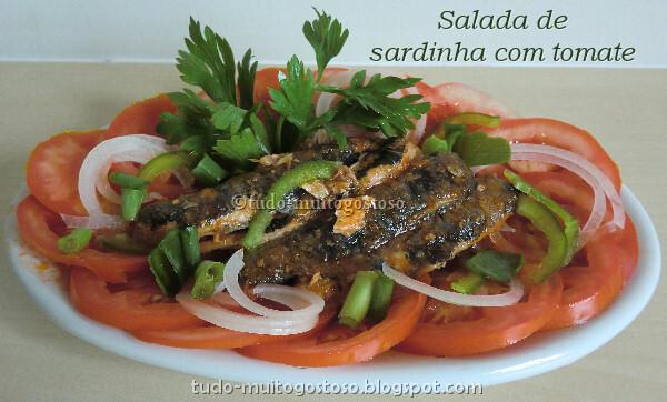 Salada de sardinha com tomate