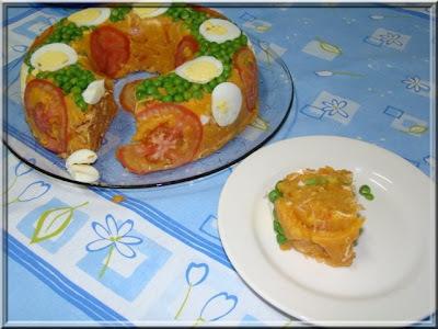 arroz paulista com frango desfiado