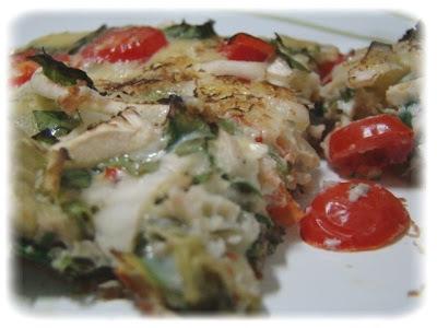 Omelete verde ao forno