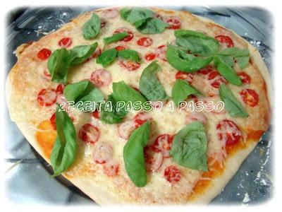 Massa de Pizza - Pizza Marguerita