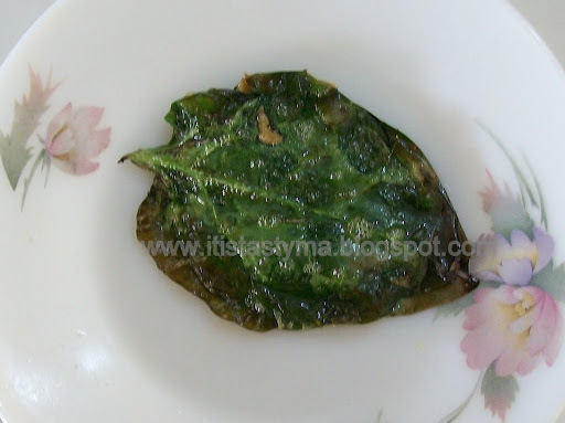 Malabar spinach leaves (Pui Pata) with poppy seed (Posto) paste