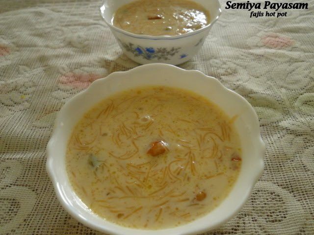 semiya payasam with jaggery