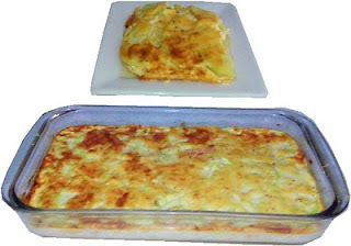 Chayotes con queso gratinados