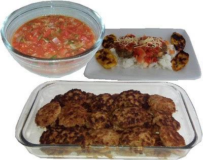 Tortitas de carne con albahaca y orégano