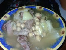 sopa de lagarto con hueso