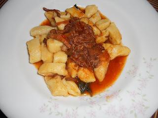 carne assada panela pressão com molho para nhoque