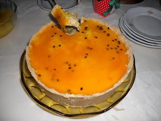 TORTA MOUSSE DE MARACUJA