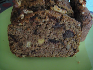 Banana, date and walnut bread