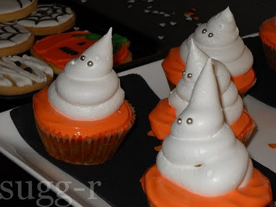 [pumpkin pecan cupcakes] cupcakes de auyama/calabaza y pacanas...HALLOWEEEEEEEEN!!!