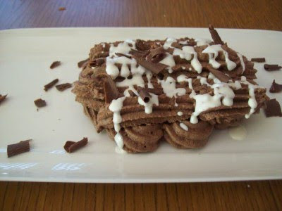 Daring Baker's Challenge: Chocolate Pavlovas and Chocolate Mascarpone Mousse