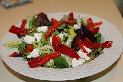 Salada Portobello com Pimentão Assado