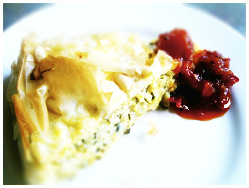 Zucchini & Feta Filo Tart (Or zucchini inspiration #3)