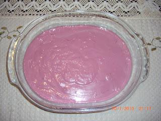 mousse de uva com tang e gelatina